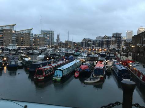 A gloomy early morning at Limehouse, London