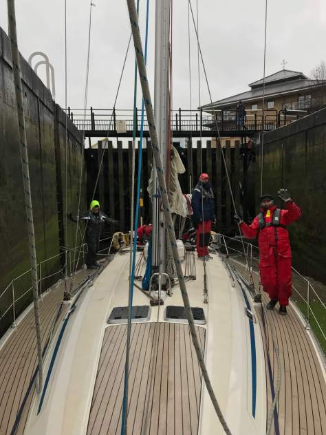aground in limehouse lock - sailing